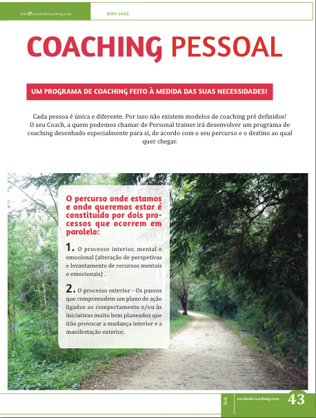 Escola de Coaching ECIT | Sessões de Life Coaching