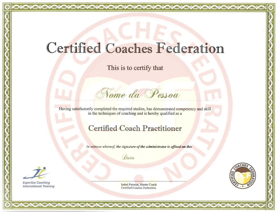 Escola de Coaching ECIT - Curso de Coaching com Certificação Internacional - Certified Coach Practitioner - Certificado